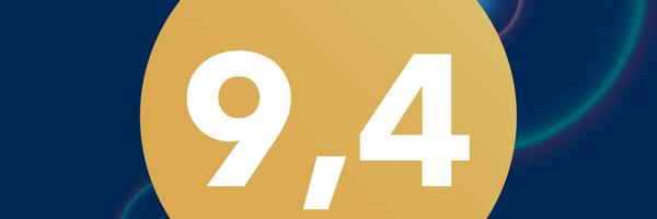 9,4 – Notaza de Booking en 2018